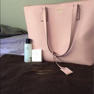 baby pink, kate spade purse